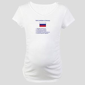 "Whooligan Russia ""Putin Democracy"" Maternity T-Shi"