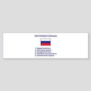 "Whooligan Russia ""Putin Democracy"" Sticker (Bumper"