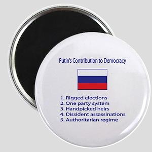 "Whooligan Russia ""Putin Democracy"" Magnet"