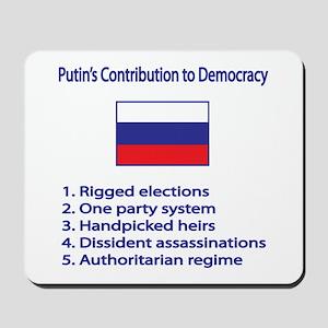 "Whooligan Russia ""Putin Democracy"" Mousepad"