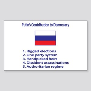 "Whooligan Russia ""Putin Democracy"" Sticker (Rectan"