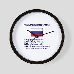"Whooligan Russia ""Putin Democracy"" Wall Clock"