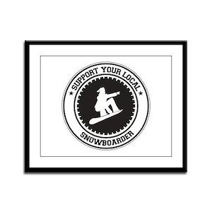 Support Snowboarder Framed Panel Print