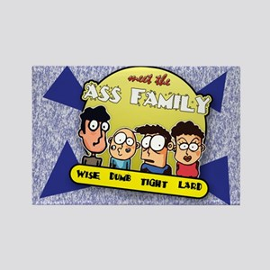 The Ass Family... Rectangle Magnet
