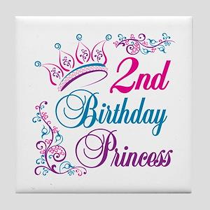 2nd Birthday Princess Tile Coaster