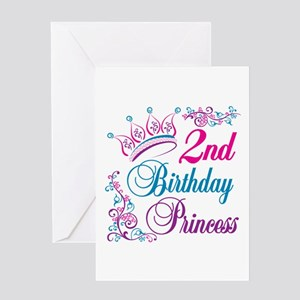 2nd Birthday Princess Greeting Card