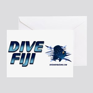 Dive Fiji (blue) Greeting Cards (Pk of 10)