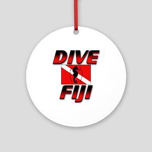 Dive Fiji (red) Keepsake (Round)