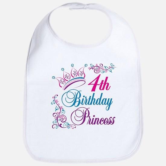 4th Birthday Princess Bib