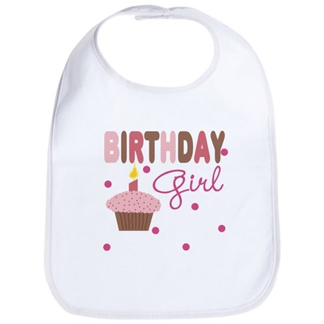 Birthday Girl Cupcake Baby Infant Toddler Bib
