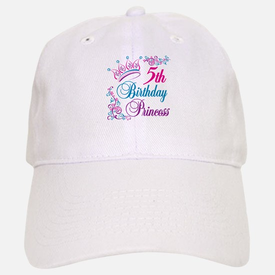 5th Birthday Princess Baseball Baseball Cap