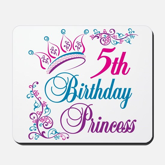 5th Birthday Princess Mousepad