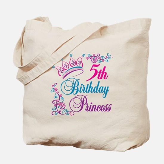 5th Birthday Princess Tote Bag