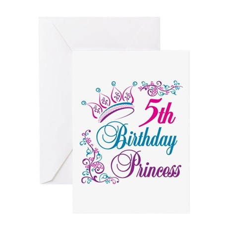 5th Birthday Princess Greeting Card
