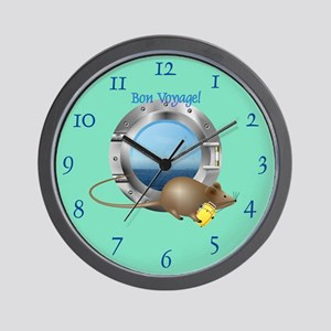 Sailing Mouse on Vacation Wall Clock