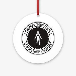 Support Respiratory Therapist Ornament (Round)