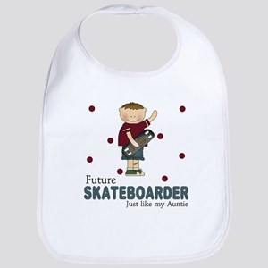 Future Skateboarder Like Auntie Baby Infant Bib