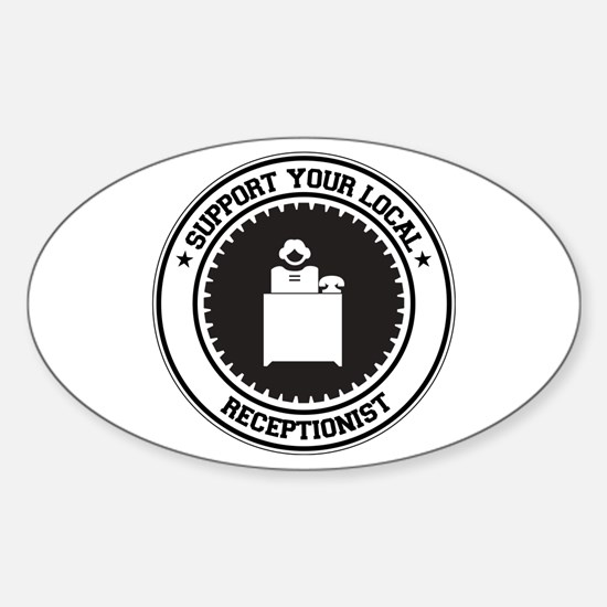 Support Receptionist Oval Decal