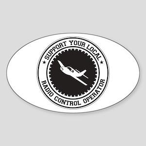 Support Radio Control Operator Oval Sticker