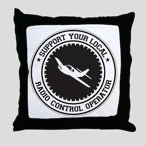 Support Radio Control Operator Throw Pillow