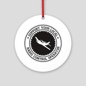Support Radio Control Operator Ornament (Round)