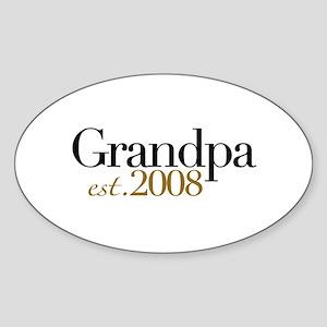 New Grandpa est 2008 Oval Sticker