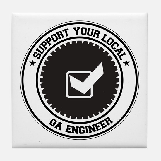 Support QA Engineer Tile Coaster