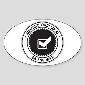 Support QA Engineer Oval Sticker