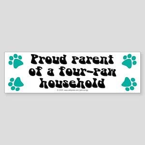 Four-paw household Bumper Sticker