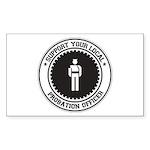 Support Probation Officer Rectangle Sticker 10 pk