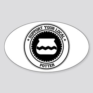 Support Potter Oval Sticker