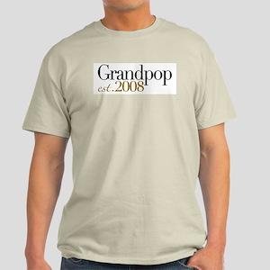 New Grandpop est 2008 Light T-Shirt