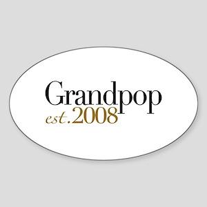 New Grandpop est 2008 Oval Sticker