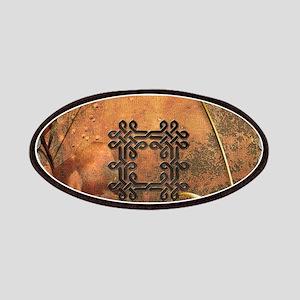 Wonderful celtic knot on vintage background Patch