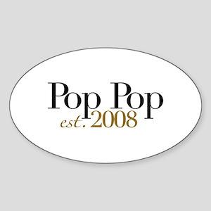 New Pop Pop est 2008 Oval Sticker
