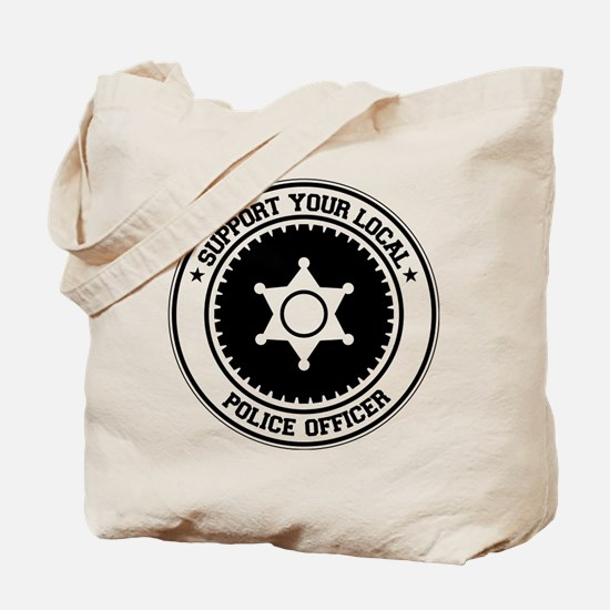Support Police Officer Tote Bag