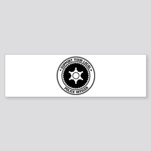 Support Police Officer Bumper Sticker