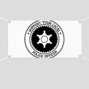 Support Police Officer Banner