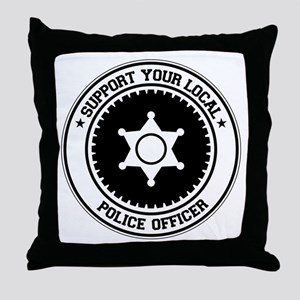 Support Police Officer Throw Pillow