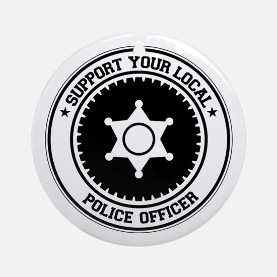 Support Police Officer Ornament (Round)