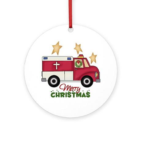 Paramedics Christmas Ornament (Round)