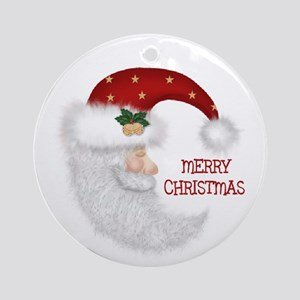 Half Moon Santa Claus Ornament (Round)