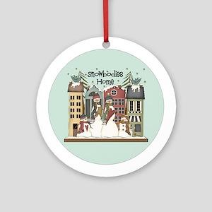 Snowbodies Home Ornament (Round)