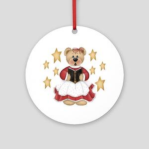 Christmas Choir Bear Ornament (Round)