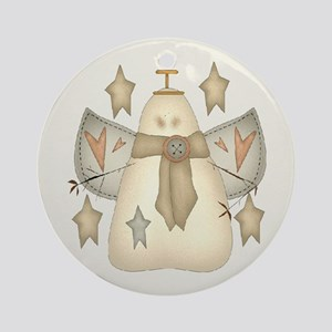 Snowman Angel Ornament (Round)