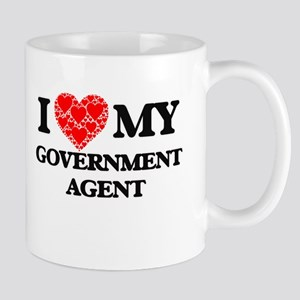 I Love my Government Agent Mugs