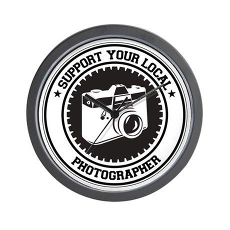 Support Photographer Wall Clock