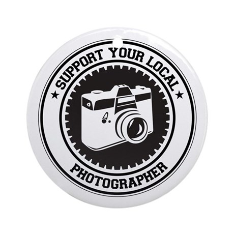 Support Photographer Ornament (Round)