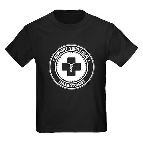 Support Phlebotomist Kids Dark T-Shirt