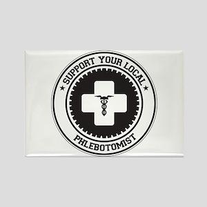Support Phlebotomist Rectangle Magnet